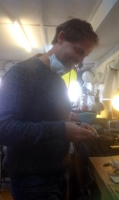 Making wooden needles with Justin Duance