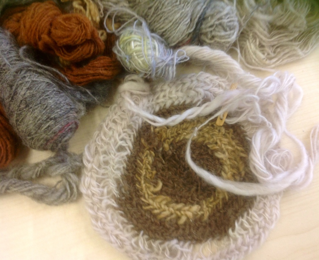 Hand Spun Wool and Nale binding