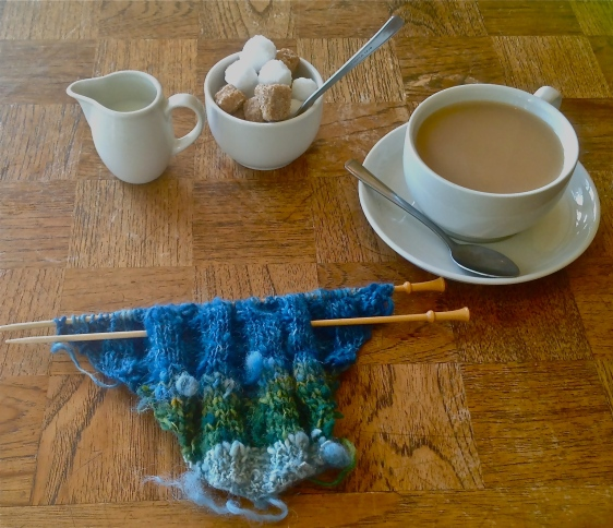 Trial knitting